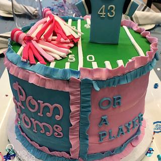 Pom Poms or a (NFL) Player - Cake by Sweet Scene Cakes