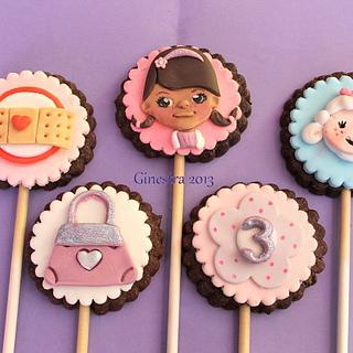 Dottie Mcstuffins stick cookies
