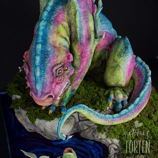 Rainbow Monster 3D Cake