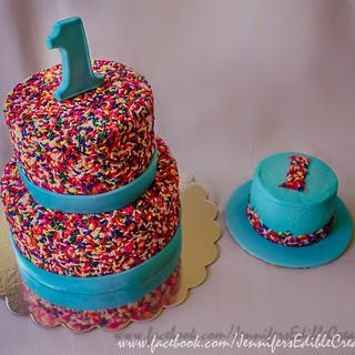 Sprinkles and Smash Cake for a 1st Birthday