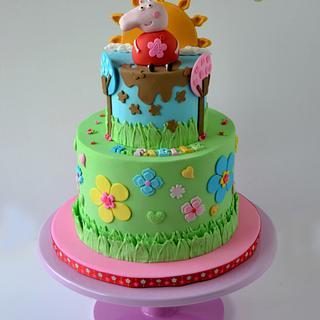 Cute Peppa Pig Cake
