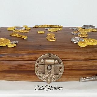 Steampunk Box - Cake by Donna Tokazowski- Cake Hatteras, Hatteras N.C.