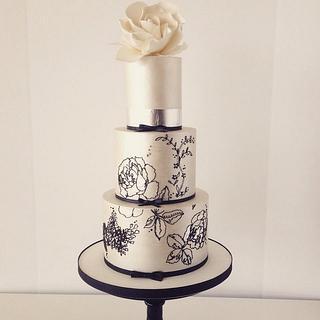 Bailey Rose wedding cake