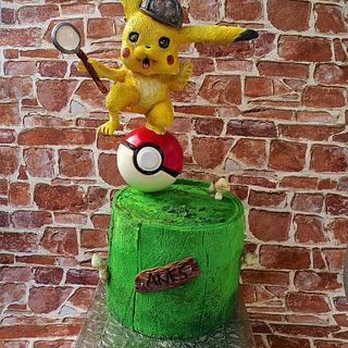 Detective Pikachu Cake