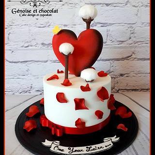 cotton wedding and rockabilly cake