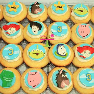 Hand painted toy story cupcake toppers