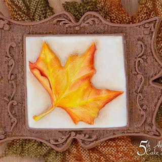 Antique Maple Leaf Cookie Frame