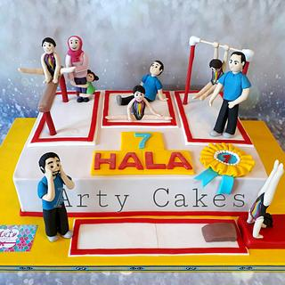 Gymnastic cake by Arty cakes