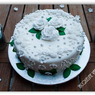 cake filled with mocca for grandma Leny  - Cake by Jacqueline