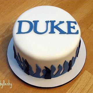 Duke Blue Devils Blue Velvet Cake