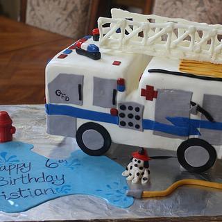 Fire Truck Boy Birthday cake