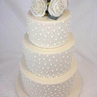 Spotty Wedding Cake