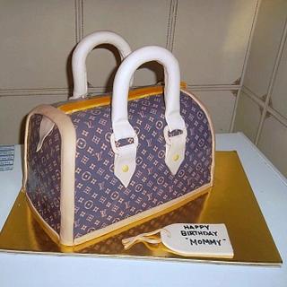 LV BAG cake.............. - Cake by KristianKyla