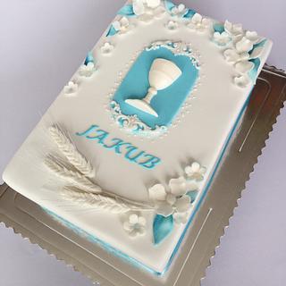 1st communion cake - Cake by Layla A