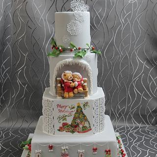 """Wedding cake """"Christmas feelings"""""""