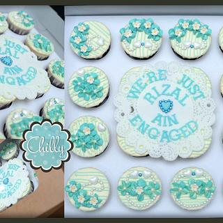 Turquoise 16 pcs Cuppies