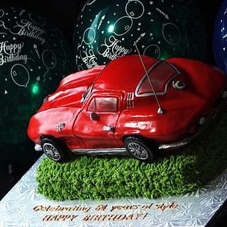 64 Corvette Cake - Cake by GrandmaTilliesBakery