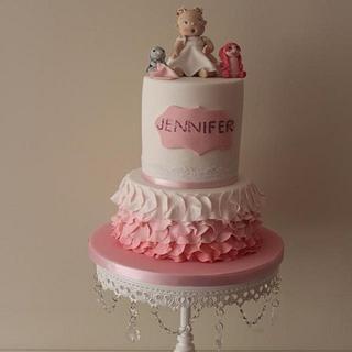 Carlos lischetti inspired christening cake