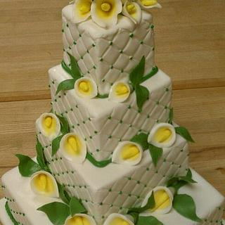 4-Tier Wedding Cake - Cala Lilies