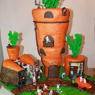 The carrot´s house cake