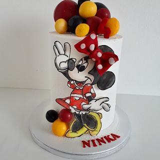 B-day Minnie - Cake by Kaliss