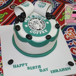 Star bucks cake - Cake by Yasmin Amr