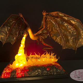 Smaug Breathes Fire - Cakes From Middle Earth