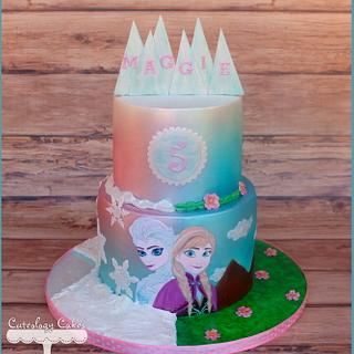 Frozen Cake - Cake by Cuteology Cakes