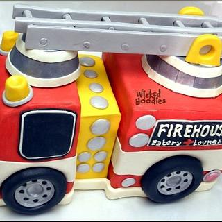 Firetruck Cake by Wicked Goodies