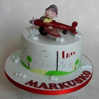 ... a plane - Cake by lamps