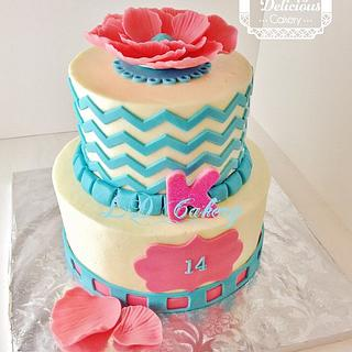 Katie's 14th Birthday Cake
