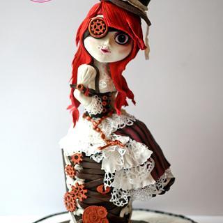 Steampunk Doll Cake