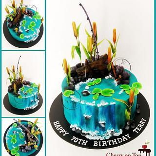 Fishing Theme Cake
