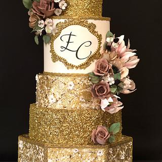 Royal gold wedding cake - Cake by Delice