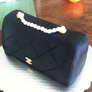 Coco Chanel black lambskin clutch