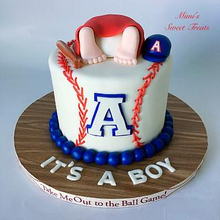 Baseball Baby Shower Cake - Cake by MimisSweetTreats