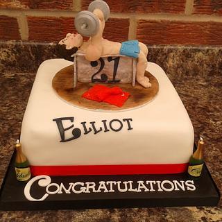 Weightlifter Birthday cake