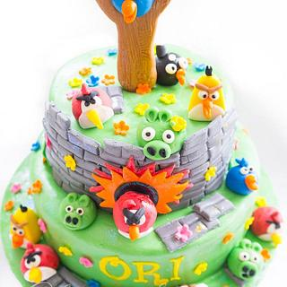 Angry bird cake for Ori's 6st birthday.