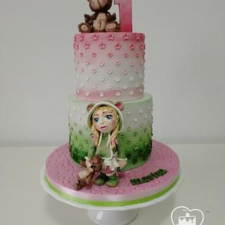 Little girl  - Cake by MOLI Cakes