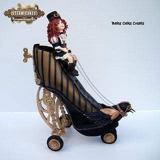 Evangeline's steampunk flying machine - Steam cakes collab - Cake by Karen Geraghty
