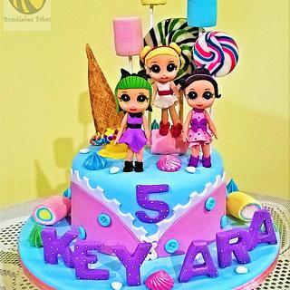 Fondant LOL doll cake - Cake by Bumblebee Bakes Goa