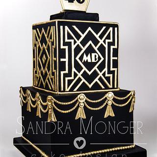 Art Deco Birthday Cake - Cake by Sandra Monger