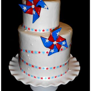 My 4th of July cake