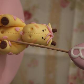 Bunting Giraffe for Girl Baby shower