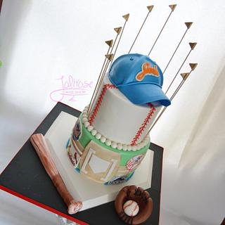 Baseball Themed Bar Mitzvah Cake