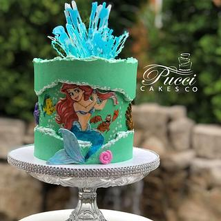Little Mermaid Fault Line - Cake by Pucci Cakes Co