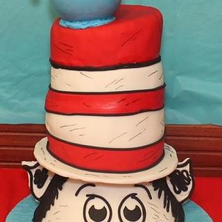 Cat In The Hat Cake And Cupcakes!!! - Cake by TreatsSweetsAndEats
