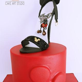 Mickey Mouse shoe from Couture Cakers International Collaboration