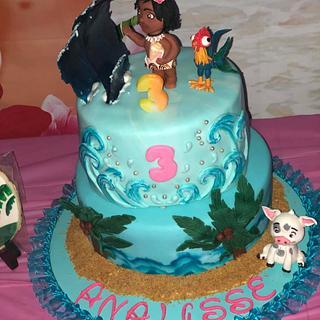 Baby Moana Birthday Cake