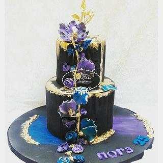 Flowered Black cake
